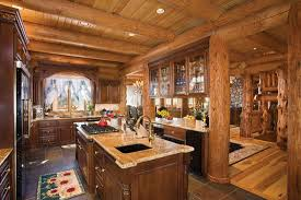log home interior designs 16 amazing log house kitchens you to see tin pig