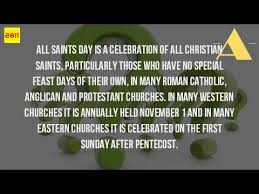 what is the meaning of all saints day