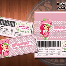 strawberry shortcake candy bar wrappers strawberry shortcake