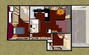 3d top view of our 802 sq ft little darling cozys 700 sq ft
