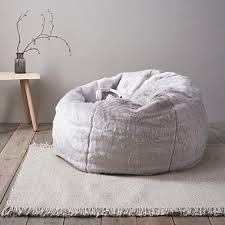 supreme faux fur beanbag beanbags the white company uk