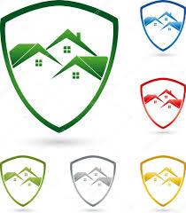 Immobilien Haus Logo Immobilien Haus Wappen U2014 Stock Vector Elena Hoelzer