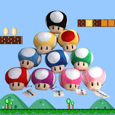 Super Mario Decorations 2017 Wholesale New Super Mario Plush Toys Dolls Figure Mushroom