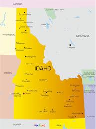 map of idaho cities map of idaho search walk across america idaho