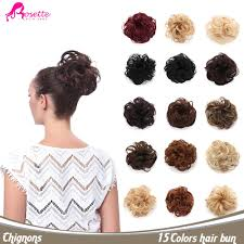 hair bun clip 15colors curly synthetic hair bun extension clip in chignons