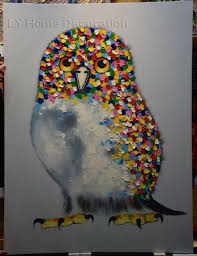 2015 sale colorful owl hand painted modern decoration abstract