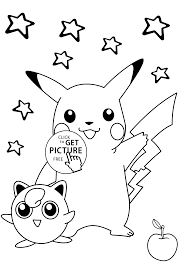 smiling pokemon coloring pages for kids printable free 1990s
