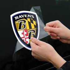 baltimore ravens team logo shield die cut decal 8 x 8