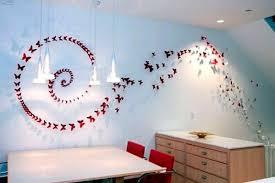 handmade butterflies decorations on walls paper craft ideas