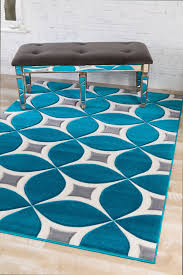 Area Rugs Turquoise Turquoise Gray Modern Rug Kaleidoscope Contemporary Area Rugs