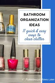 Bathroom Organization Ideas by Bathroom Organization Ideas 11 Quick And Easy Ways To Clear Clutter