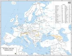 Map Of Europe 1500 of europe and the middle east 1943