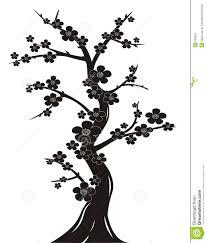 cherry blossom tree silhouette stock image image 650551