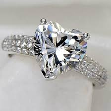 sterling diamond rings images S925 sterling silver jewelry heart ring cz diamond wedding jpg