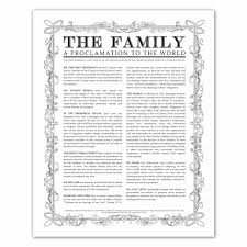 Lds Home Decor by Leaf Outline Family Proclamation In Family Proclamation