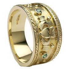 gold ring images for men gold claddagh ring mg clad32