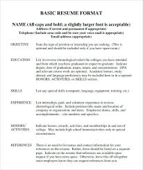 basic resume outlines google i need a simple resume template free simple resume format download