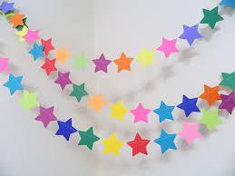 paper decorations birthday decorations boy girl banner rainbow birthday