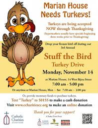 stuff the bird turkey drive catholic charities of central colorado