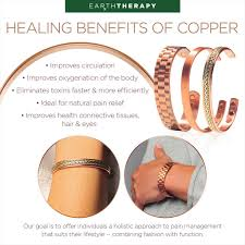 bracelet health magnetic images Pure copper magnetic therapy ring bracelet gift set jpg