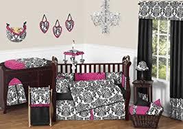 Designer Girls Bedding Amazon Com Sweet Jojo Designs 9 Piece Designer Pink Black