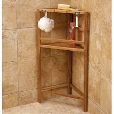 Corner Bathroom Shelves Pretentious Design Ideas Teak Bathroom Shelves Stunning Shower