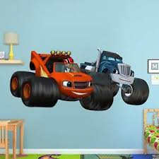 blaze crusher monster machines wall sticker removable decal