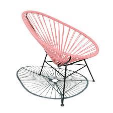 fauteuil en corde fauteuil acapulco mini rose rose sentou design enfant