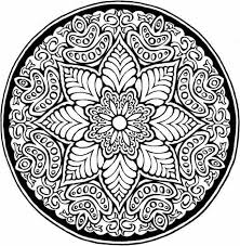 abstract coloring pages floral mandala coloringstar
