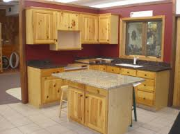 unfinished kitchen gallery with rustic pine cabinets pictures