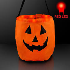 amazon com pumpkin light up led trick or treat bag for halloween