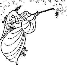 angel magic coloring wecoloringpage