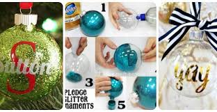 how to make diy personalized glitter ornaments