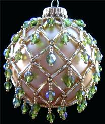 beaded ornament 10 ornaments unique