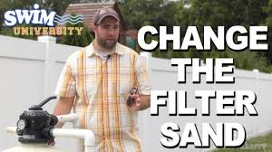 how to change the sand in your sand filter youtube