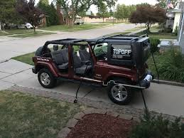 jeep wrangler 4 door top off topoff jk74 roof rack