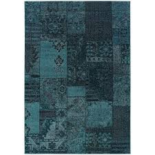 Patchwork Area Rug Patchwork Dyed Teal Grey Area Rug 5 X 7 6 Free Shipping