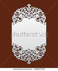 wedding invitation pocket envelopes wedding invitation lace border laser cut stock vector 1008077530