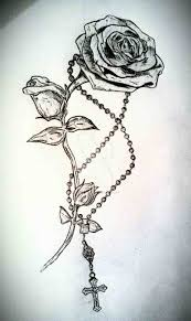 cross necklace tattoo images Rose with cross necklace tattoo tattoo jpg
