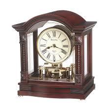 Chiming Mantel Clock Amazon Com Bulova B1987 Bardwell Clock Antique Walnut Finish