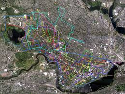 Boston Bike Map by Bike Tours Of Cambridge