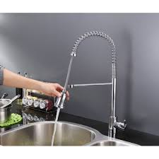 Commercial Style Kitchen Faucets Ruvati Rvf1215ch Commercial Style Pullout Spray Kitchen Faucet
