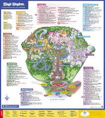 Orange County Florida Map by Disneys Magic Kingdom Map Disney039s Magic Kingdom Orlando Fl