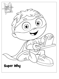 super why coloring pages coloring page