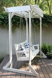 porch swing with pergola buildsomething com