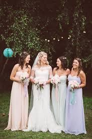 pastel wedding at wise wedding venue kent with lace wedding dress