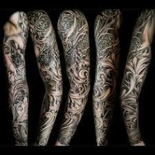 filigree tattoo sleeve tattoo designs for men arms tribal angel