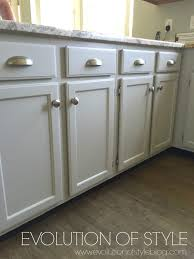 Knobs On Kitchen Cabinets A Revere Pewter Kitchen Cabinet Makeover Evolution Of Style