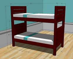 Free Plans For Twin Loft Bed by Ana White Side Street Bunk Beds Diy Projects