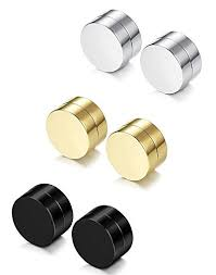 magnetic earrings for men sailimue 3 pairs stainless steel magnetic earrings for men women
